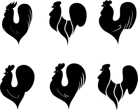 Set of cocks Stock Vector - 10010305