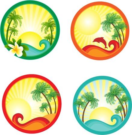 Beach banner.  Ilustrace
