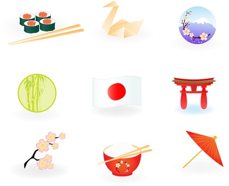 Japan Icons Stock Vector - 10322656