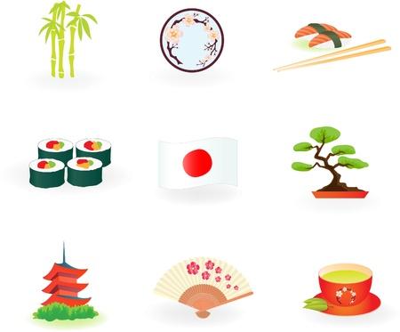 日本のアイコン  イラスト・ベクター素材