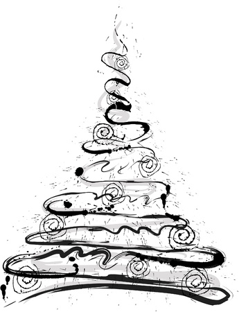 Grunge Christmas tree Illustration