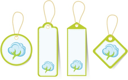 The price tags for products from a cotton. Stock Vector - 11879056