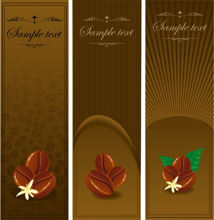 coffee banners. Vector