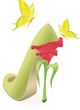 Female the shoes Stock Vector - 12758995