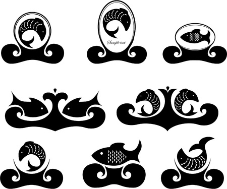 Vector illustration d'un poisson