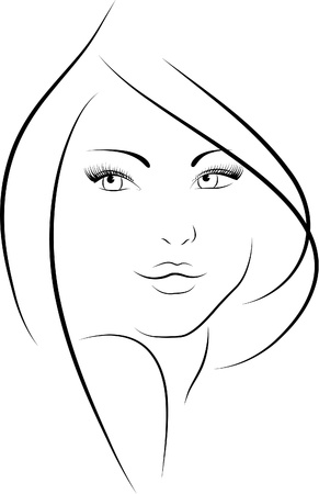 long-haired woman Illustration