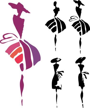 mujer: Silueta de las mujeres Vectores