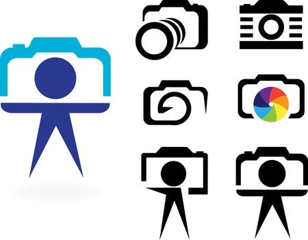 color photographs: stylized camera