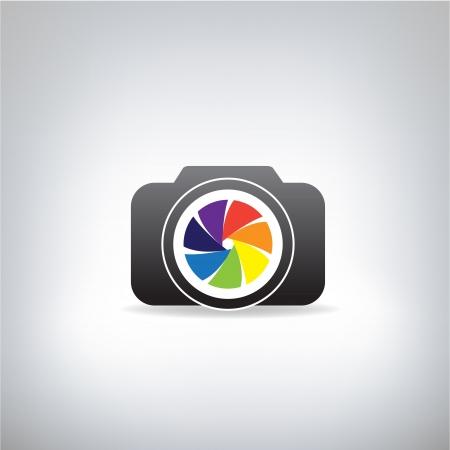 stylized photo camera Vettoriali