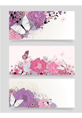 background for the design of flowers  Vector illustration Stock Photo