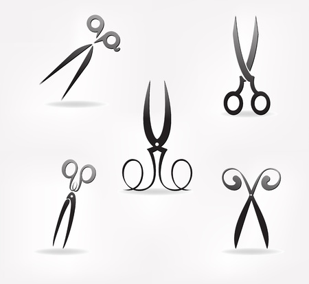 scissors icon: scissors  stylization  design element for vector illustration