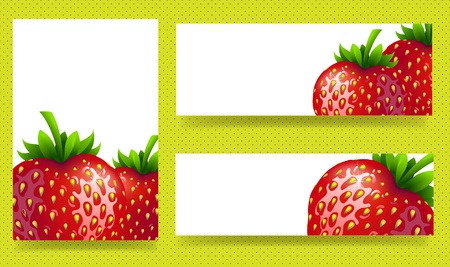 backgrounds with red, juicy strawberries Vector