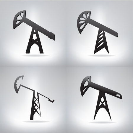 Silhouette of oil pump ,  illustration Stock Vector - 19158809