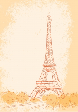 french culture: Paris, background with the Eiffel tower