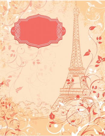 Parijs, achtergrond met de Eiffeltoren