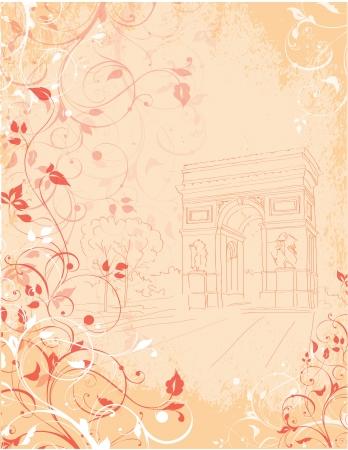 background Arc de Triomphe,  Triumphal arch, Paris, France Stock Vector - 19319948
