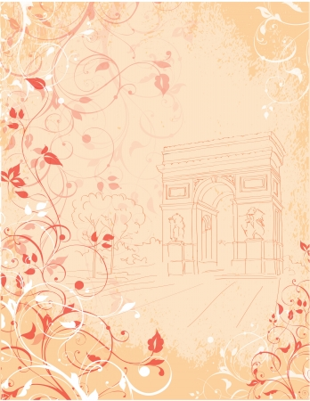 background Arc de Triomphe,  Triumphal arch, Paris, France Stock Vector - 19319948