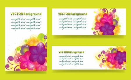 set of banners with flowers Stock Vector - 19362973