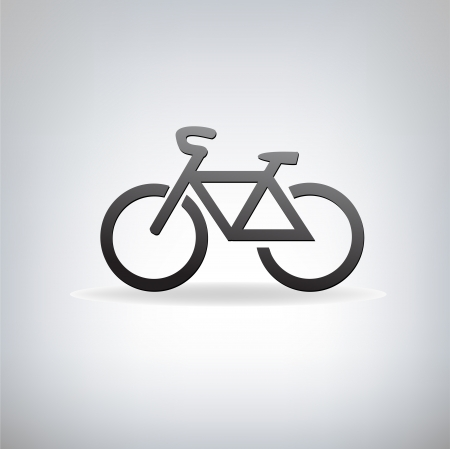 stylized bicycle,  illustration Vector