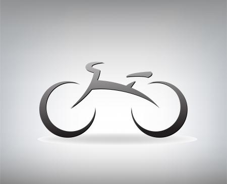 様式化された自転車の図
