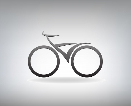 stylized bicycle,  illustration