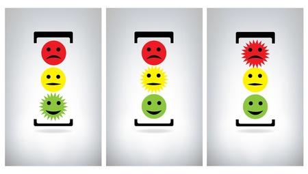 semaphore: Traffic lights isolated on grey background Illustration