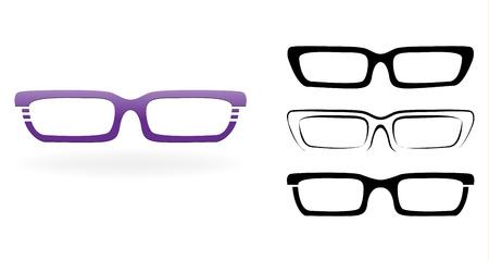 Set of modern glasses,  illustration isolated on white background Stock Vector - 21126617