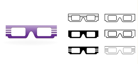 3D Glasses Icon Stock Vector - 21126623