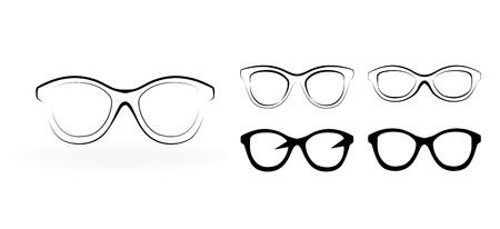 Set of modern glasses,  illustration isolated on white background Stock Vector - 21126650