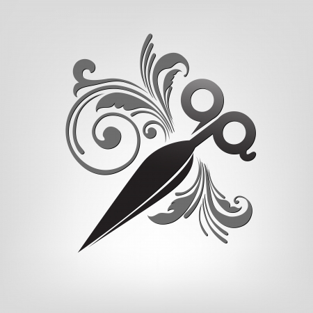scissors. stylization. design element for vector illustration Stock Vector - 21736905