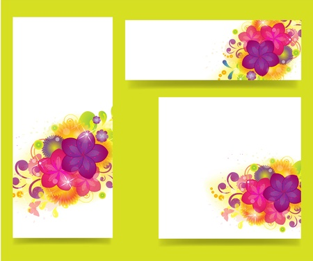 set of banners with flowers Stock Vector - 21736935