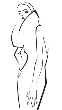 Fashion model. Sketch. Vector illustration Vector