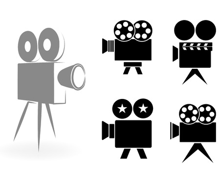 movie projector: ic?ns of video cameras