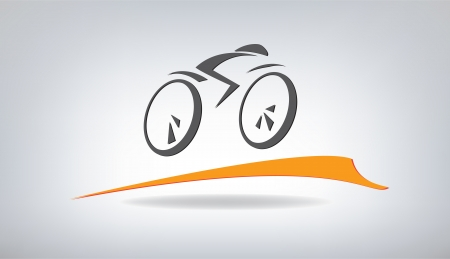 stylized bicycle, vector illustration Vector