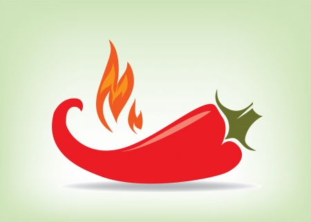 Red hot pepper , vector illustration