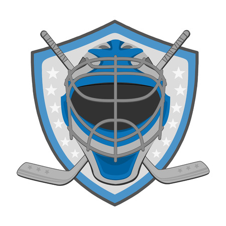 Ice hockey labels, badges. Ice Hockey emblem Vector