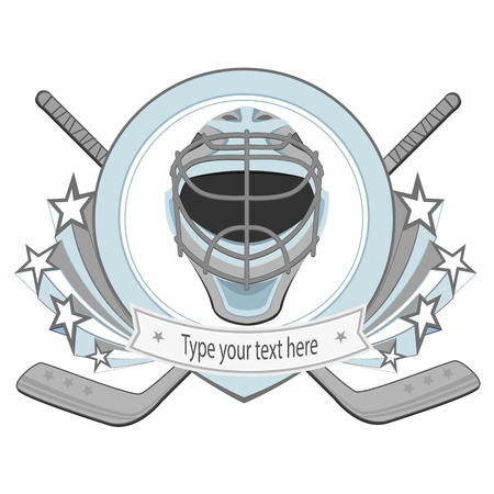 hockey stick: Ice hockey labels, badges. Ice Hockey emblem Illustration