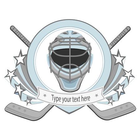allstar: Ice hockey labels, badges. Ice Hockey emblem Illustration