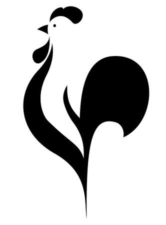 白い背景の上の様式化されたコック ベクトル イラスト  イラスト・ベクター素材