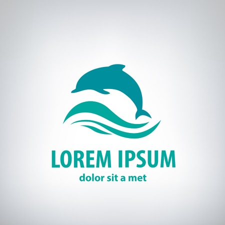 Dolphin icon design element