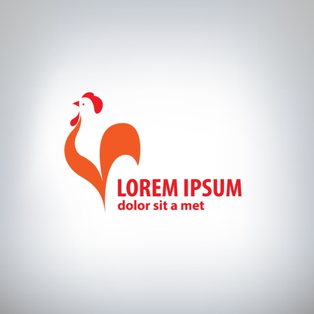 poultry animals: Rooster logo