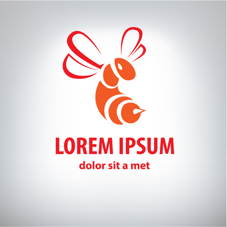 Stylized bee icon such logo