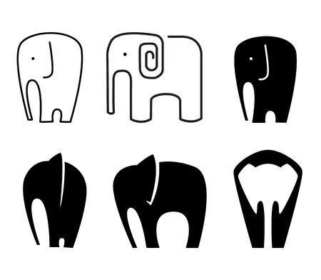largest: Elephant icon Illustration