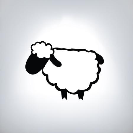 zwarte silhouet van schapen
