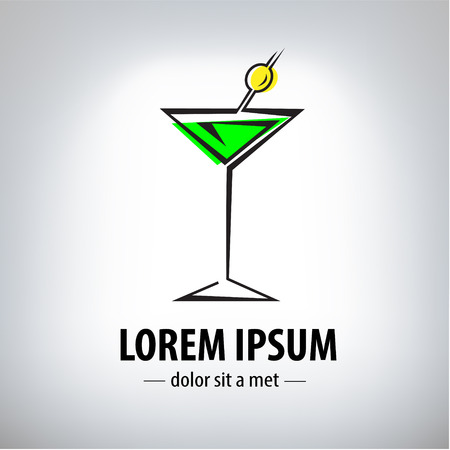 cocktail party glass design Vector