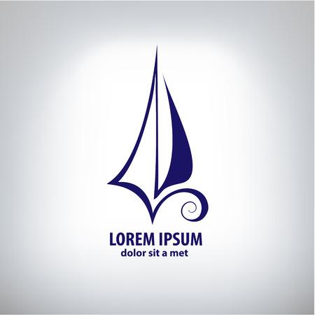 ベクトル船印企業ロゴ
