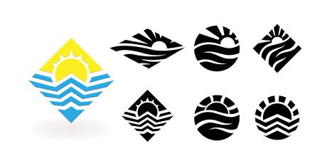 Travel vector logo design template.