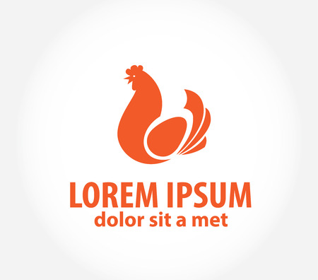 Chicken logo.  Vector