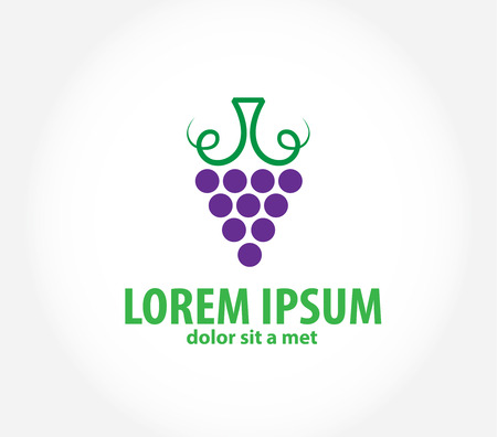 Wine label design Vector