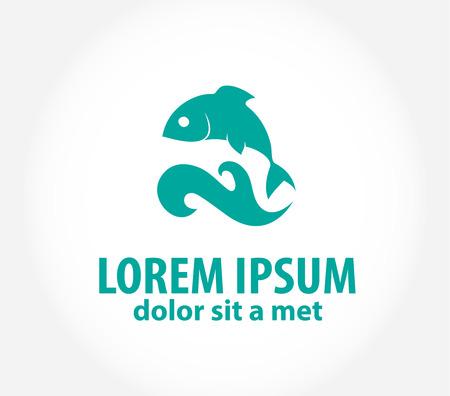 logo poisson: Poissons abstraite conception de vecteur logo modèle. Illustration